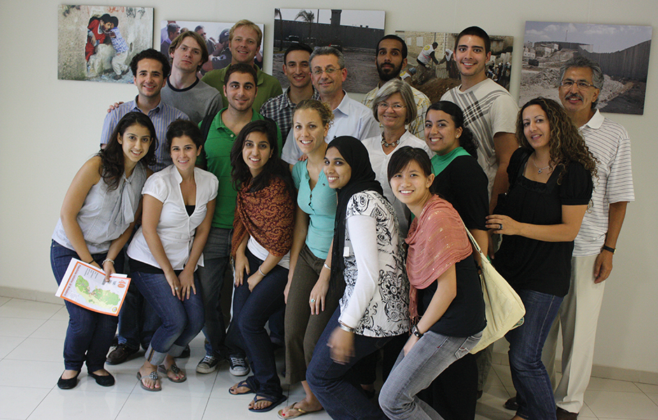 Dana with Olive Tree members