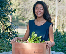 With her gardening kit startup, senior Stella Liu hopes to motivate people to grow their own food