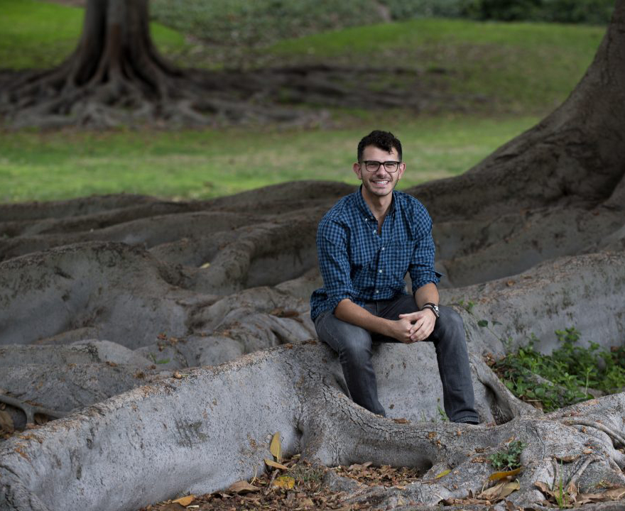 Dalai Lama Scholar Andrew Hallak leads project to leverage UCI sustainability efforts