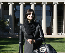 From running a tech company and building a robot for NASA to challenging stereotypes about Muslim women in a viral video, there's never a dull moment with social sciences alumna Layla Shaikly