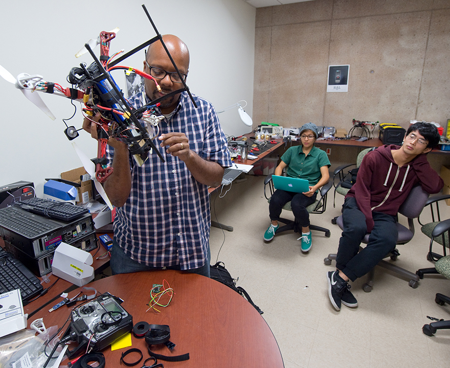 UCI competition challenges students to design machines that can search for disaster victims