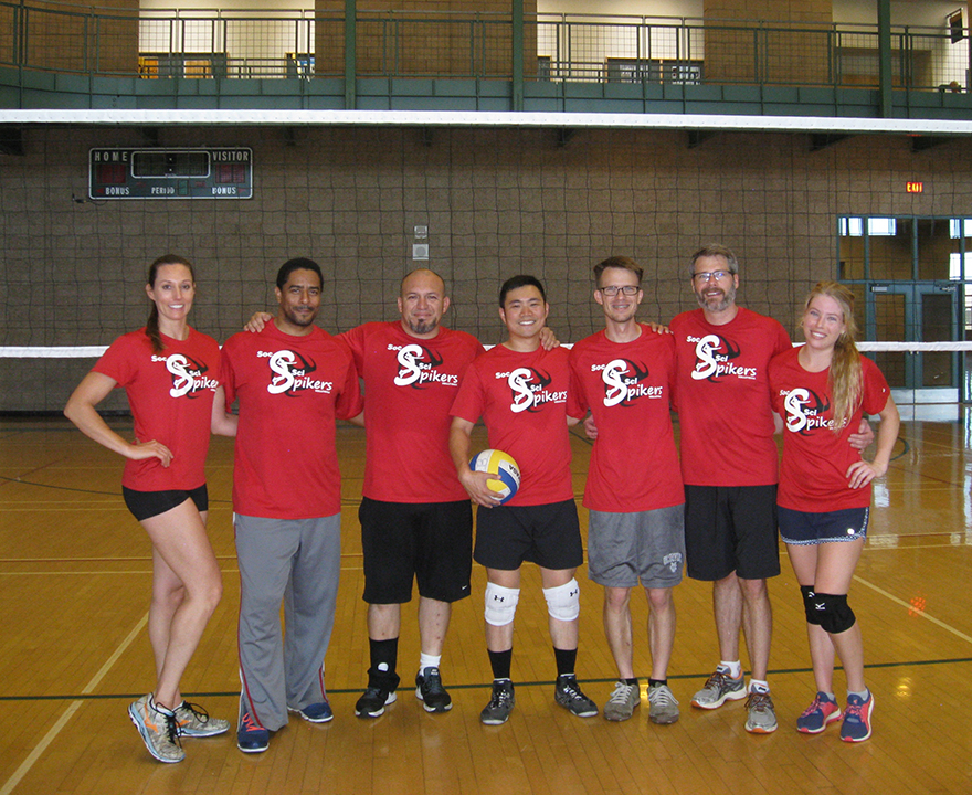 Staff volleyball team posts school's best record in annual summer league