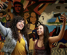 Undergrads Daniela Estrada (poli sci) and David Cosme (sociology) and associate dean Mark Petracca featured in the LA Times