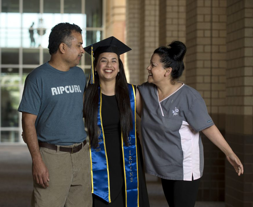 Daniela Estrada reflects UCI's commitment to the success of first-generation Latino students