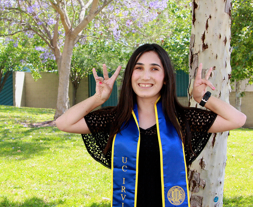 When times get tough, graduating senior Margarita Rodriguez, psychology, isn't one to back down