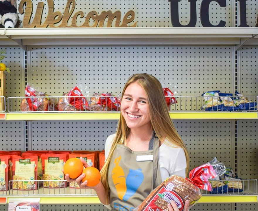UCI undergrad and cross country runner Keely Boyd is helping close the distance between students, hunger