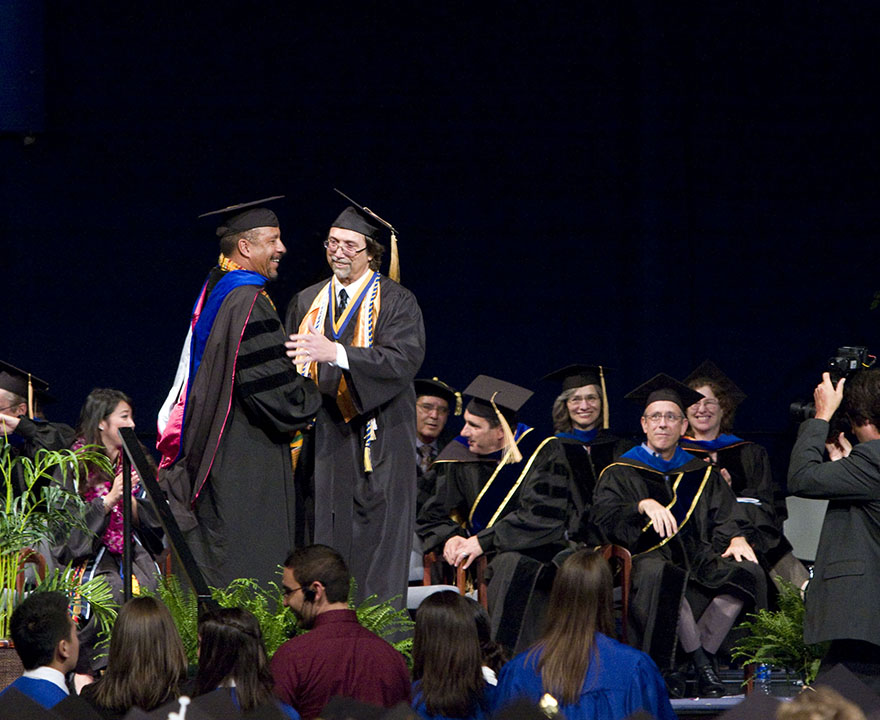 mike arias at graduation