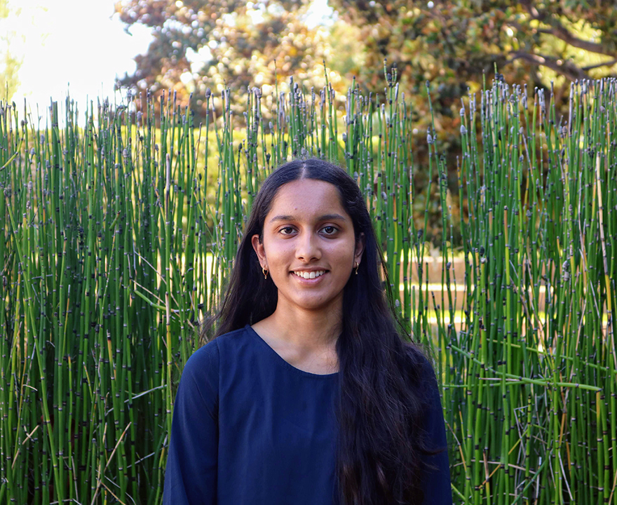 UCI freshman and Dalai Lama Scholar Karishma Muthukumar could soon help guide the National Science Foundation's research agenda