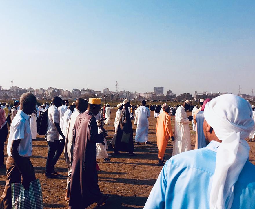 Eid al-Adha morning prayer in Dar es Salaam, Tanzania