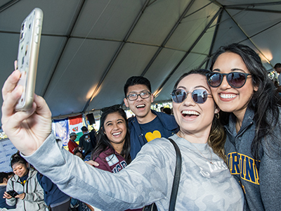 Students taking a Selfie