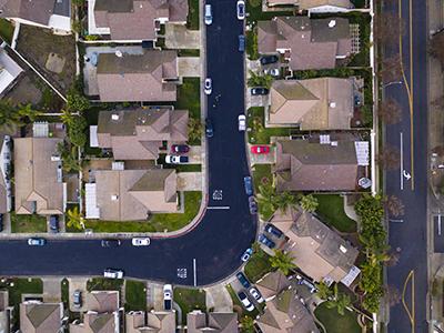 aerial photo of a comunity